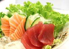 Lachs and Tuna Sashimi